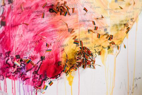 Taidemaalaus sateenkaaren väreissä