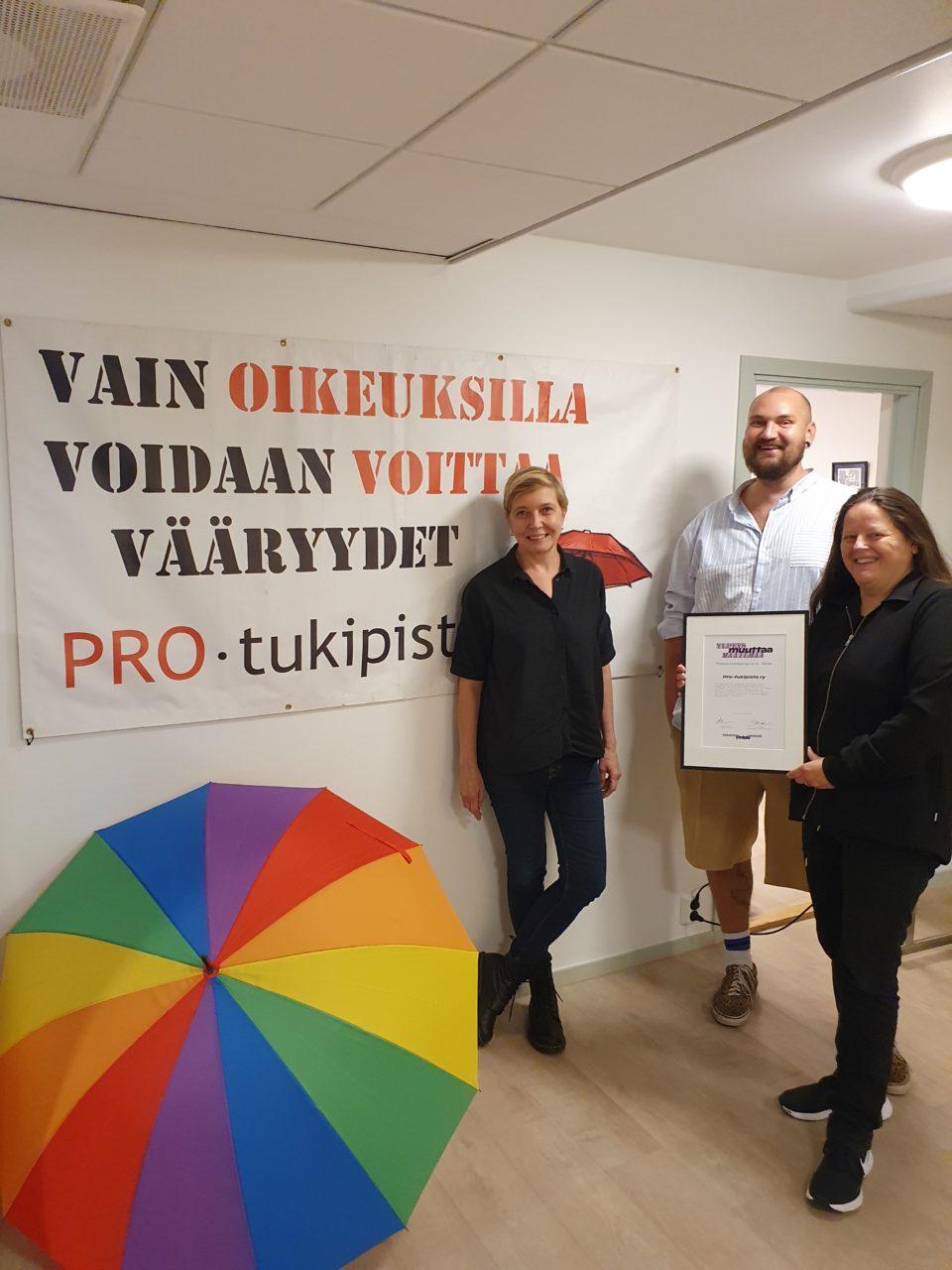 Minna Huovinen, Aaro Horsma ja Jaana Kauppinen